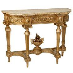 Antique Louis XVI Giltwood Console