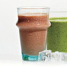 Watermelon, Cucumber and Mint Smoothies - MyPlate-Inspired Breakfast Recipes - Cooking Light Cucumber Smoothie, Mint Smoothie, Yogurt Smoothies, Smoothie Drinks, Healthy Smoothies, Healthy Drinks, Smoothie Recipes, Healthy Snacks, Vitamix Recipes