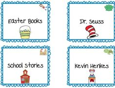 Ocean Themed Library Labels