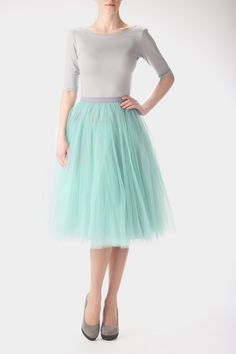 Mint tulle skirt: I've never wanted something more than I want this skirt right now.
