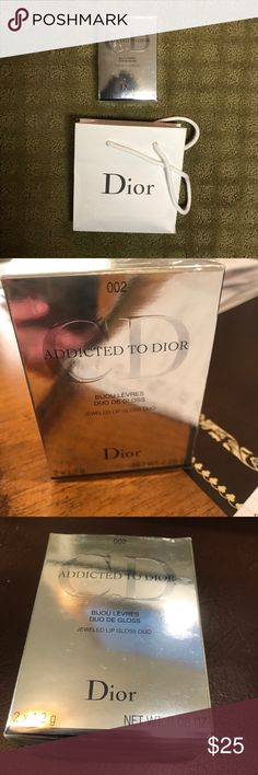 New Christian Dior Lip Glosses (2) New with Original Packaging Christian Dior Addicted to Dior Jeweled Lip Gloss Duo (2), Addicted to Pink color, gift bag included, great for a Gift! Christian Dior Makeup Lip Balm & Gloss
