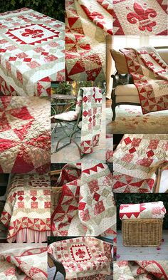 red and white enjoy sewing right away!