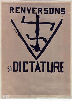 [Mai 1968]. Renversons sa dictature, Art et Archéologie : [affiche] / [non identifié] Bnf, Revolution, Photography, Anonymous, Brain, Images, Posters, City, Poster