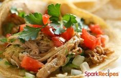 Enjoy this healthy and easy-to-make slow cooker salsa chicken recipe. via @SparkPeople