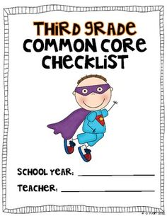 Be a Common Core Superhero!  Use this color coded checklist to mark off when you have taught to the THIRD grade Common Core Standards.