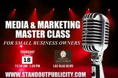 The first graphic announcing the Media & Marketing Master Class