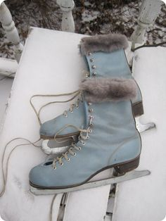Beautiful blue skates  xo--FleaingFrance // Indie Clothing Brands & UK Streetwear || AcquireGarms.com