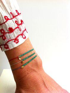 Turquoise on Silk - Miracle Gemstone Friendship Bracelet - Healing Crystal Intention: ' Friendship '