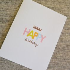 Crown Birthday Card
