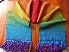 Ravelry: fiamettas Rainbow woven scarf
