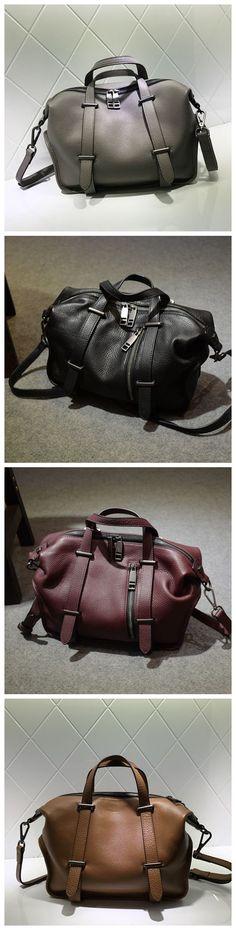 Genuine Natural Leather Fashion Bag Handbag Shoulder Bag Messenger Bag Cross Body Bag Leather Bag for Women AM07 Overview: Design: Women Fashion Handbag In Stock: 3-5 days For Making Include: Only Han