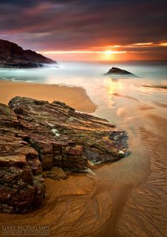 A beautiful beach ,Boyeeghter Bay at Melmore Head on the Rosguill Peninsula in Co Donegal., Ireland