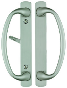 Rockwell Charlotte Sliding Patio Door Handle Set In Brushed Chrome Finish