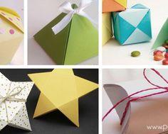5 cajas de regalo con plantilla