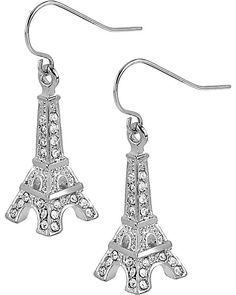 CRYSTAL EIFFEL TOWER EARRING