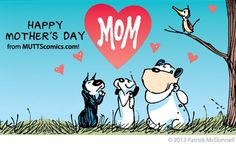 Happy Mother's Day! Mutts illustration by Patrick McDonnell