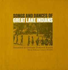 Gertrude Prokosch Kurath recorded and comments on music performed by the Great Lakes tribes of Algonquin, Meskwaki, Ojibwa, Iroquois and others. On this collection you'll find a #SuperbOwl song, peace pipe dance, powwow dance, and much more!