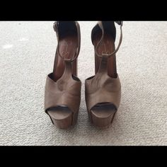 JESSICA SIMPSON - DANY SHOE Brand new with tags, Jessica Simpson Dany Shoe - 6 inches in a coffee color - No shoe box Jessica Simpson Shoes Heels