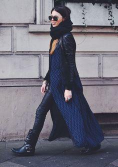 maja-wyh-street-style-boots-leather-pants