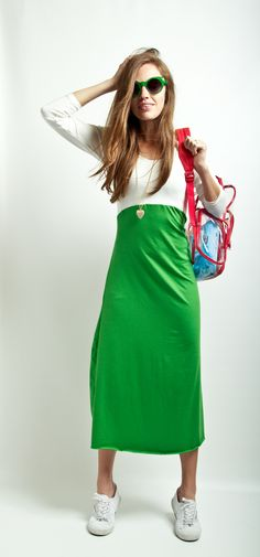 The Stella Dress; I would like to live in a dress like this all summer. T-shirt plus jersey fabric?