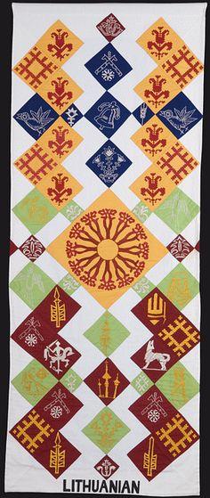 Banner of Lithuanian symbols