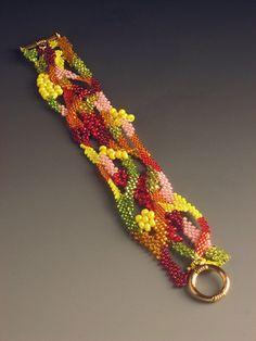 Chakita bracelet - freeform peyote by Brenda Brousseau (Luna C. Bede)