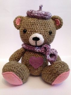 Crochet Teddy Bear Amigurumi Stuffed Animal by BABUKO on Etsy