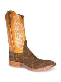 Kid/'s Boys Leather Ostrich Design Cowboy Western Durable Boots Square Cognac