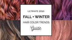 The ultimate winter and fall hair color trends guide! Complete with hair color ideas for brunettes, blondes and more - Fall Hair Color Formula Ebook included!