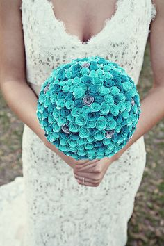 DIY paper bouquet, photo by christinakarstphotography.com i could so make this out of duct tape :)