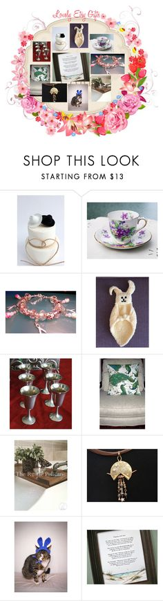 """""""Lovely Etsy Gifts"""" by afloralaffair-1 ❤ liked on Polyvore featuring interior, interiors, interior design, home, home decor, interior decorating, FOOTPRINTS, bathroom and vintage"""