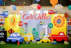 Cali's Charming Transportation Themed Party – Stage