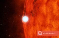 As the white dwarf passed in front of the red dwarf, its extreme gravitational field was causing spacetime to bend, focusing the light from the red dwarf, enhancing the starlight.