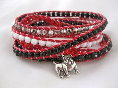 University of Georgia UGA Bulldogs Black Red by TwelveSparrows on Etsy