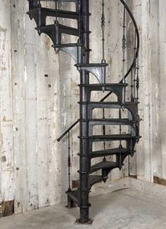 escalier helicoidal retro