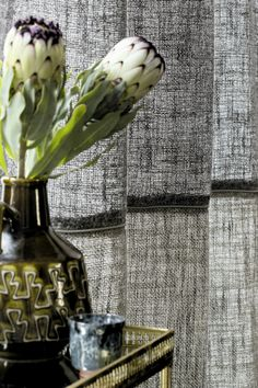 "Élitis ""Lin enchanté Illusion"" collection. Mixed linen sheer for curtains. #Elitis #fabric #Linen"