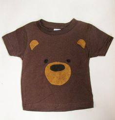 This little bear tee is perfect for everyday wear but makes a wonderful woodland birthday shirt. The Bear is made of hand appliqued felt on a
