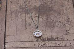 Halskette silber mit emaille SIMPLE 20 von MartaRudnicka auf DaWanda.com
