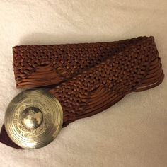 Chico's Leather Belt Like new! Cognac color! Genuine Leather Chico's Belt made in Morocco! Chico's Accessories Belts