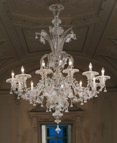 Venetian glass chandelier ducale with 6 lights colour crystal venetian glass chandelier ducale with 6 lights colour crystal and decorations in gold l venetian glass chandeliers lampadari vetro murano aloadofball Gallery
