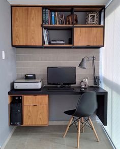Unique Small Home Office Design Ideas To Try Asap Unique Small Home Off. Unique Small Home Office Design Ideas To Try Asap Unique Small Home Office Design Ideas To Home Office Setup, Home Office Space, Home Office Furniture, Office Ideas, Ikea Furniture, Dyi Office Desk, Office With Two Desks, Industrial Office Desk, Home Office Table