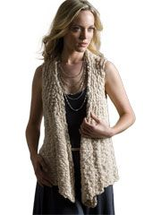 Valentine Vest Knit Pattern from AnniesCatalog.com -- This casual knit vest pattern hangs beautifully off the shoulders.