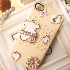 Apple 4 iphone44S Mobile Shell fluttering bear shell mobile phone shell studded with ice-cream