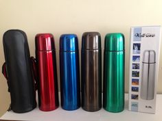 Excelente Termo Acero Inoxidable 4 Colores De 1/2 Litro - $ 105,00 en MercadoLibre