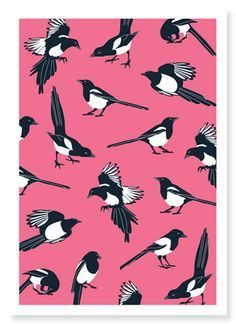 We Are Family Design : Magpies