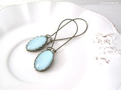 Baby blue #earrings  #handmade #brass #bronze #glass #cabochon #vintage #style #earrings #nailpolish #jewelry #jewels   https://www.etsy.com/it/listing/197955407/baby-blue-spedizione-gratuita