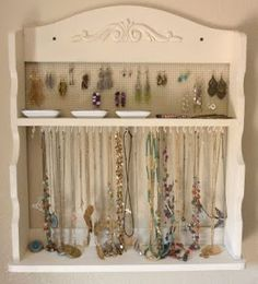 Wow - TheLaDeeDah.blogspot really transformed this ugly old spice rack into a jewelry rack