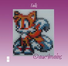 Tails - Sonic Hama perler beads by aux4mains