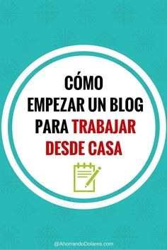 Entérate aquí como empezar un blog en menos de 20 minutos para trabajar desde casa. Ideas de ingresos. Como ganar dinero desde casa ... de verdad!