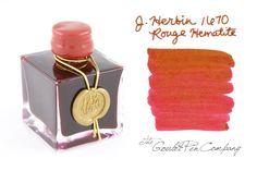 50ml bottle of J. Herbin 1670 Rouge Hematite (scarlet) ink, released in 2010 in celebration of the company